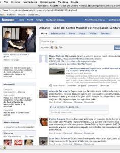 Foto publicada en diario Información